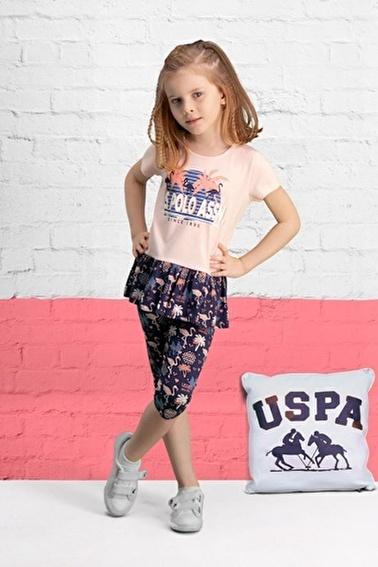 U.S. Polo Assn. U.S. Polo Assn Lisanslı İnci Pembe Kız Çocuk Kapri Takım Pembe